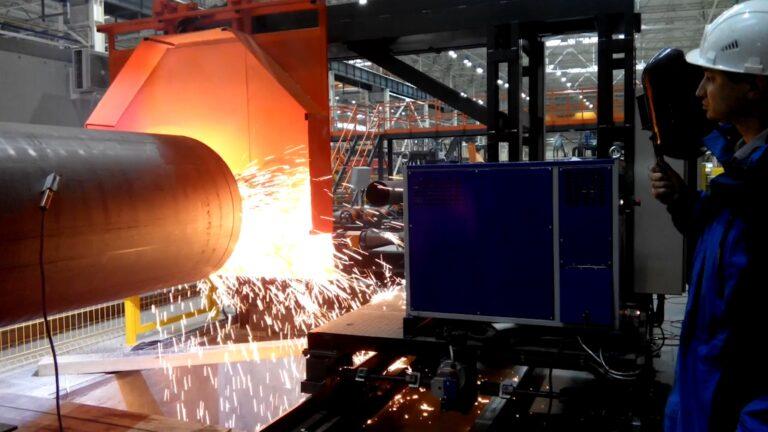 Amazing huge pipe plasma cutting machine